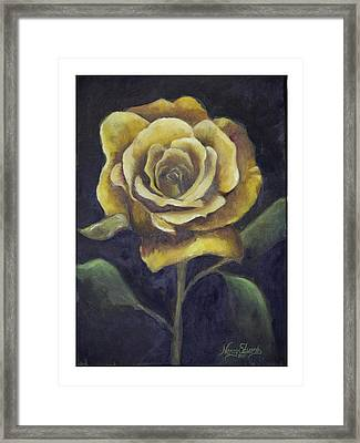 Royal Gold Bloom Framed Print by Nancy Edwards