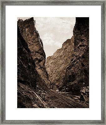 Royal Gorge, Canyon Of The Arkansas, Colorado, Jackson Framed Print by Litz Collection