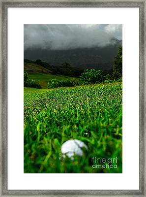 Framed Print featuring the photograph Royal Hawaiian Golf by Angela DeFrias