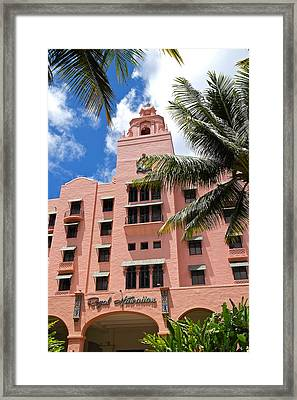 Royal Hawaiian Hotel - Entrance Framed Print by Michele Myers