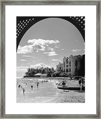 Royal Hawaiian Hotel Framed Print