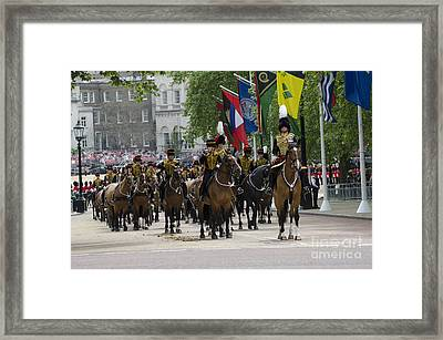 Royal Horse Guards Of The Cavalry Framed Print