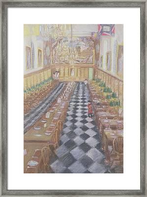 Royal Hospital Chelsea, 1996 Pastel On Paper Framed Print by Sophia Elliot