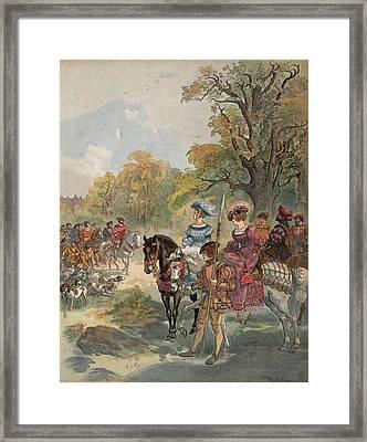 Royal Hunt, Illustration From Francois Framed Print by Albert Robida