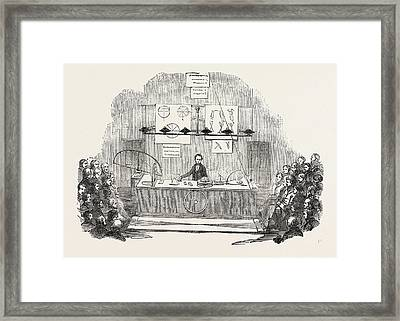 Royal Institution, Lecture On The Rotation Of The Earth Framed Print