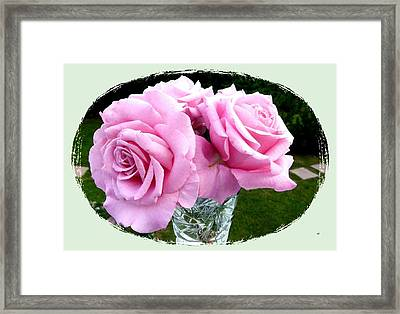 Royal Kate Roses Framed Print