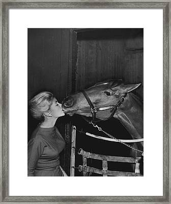 Royal Kiss Horse Racing Vintage Framed Print by Retro Images Archive