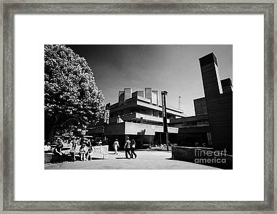 Royal National Theatre South Bank London England Uk Framed Print