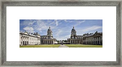 Royal Naval College Courtyard Framed Print by Heather Applegate