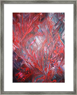Framed Print featuring the painting Royal by Nico Bielow