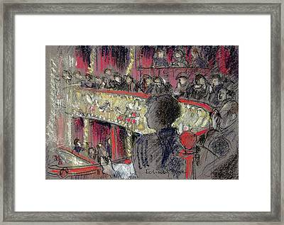 Royal Opera House Pastel On Paper Framed Print by Felicity House