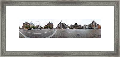 Royal Palace And The Nieuwe Kerk, Dam Framed Print
