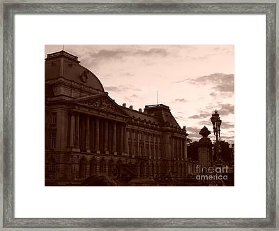 Royal Palace Brussels Framed Print