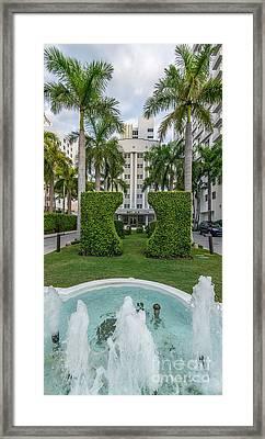 Royal Palm Hotel On South Beach Miami Framed Print by Ian Monk