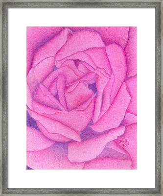 Royal Pink Framed Print by Dusty Reed