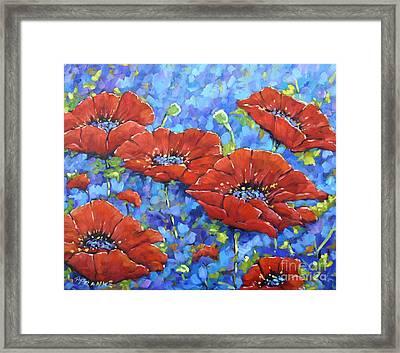 Royal Poppies By Prankearts Framed Print by Richard T Pranke