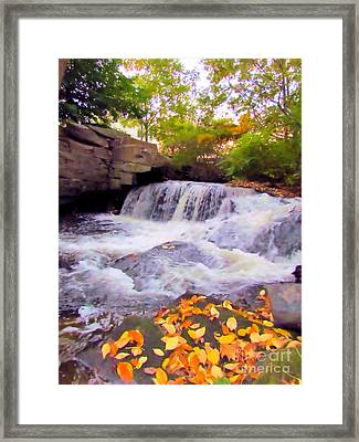 Royal River White Waterfall Framed Print
