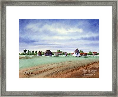 Royal Saint George's Golf Course Framed Print by Bill Holkham