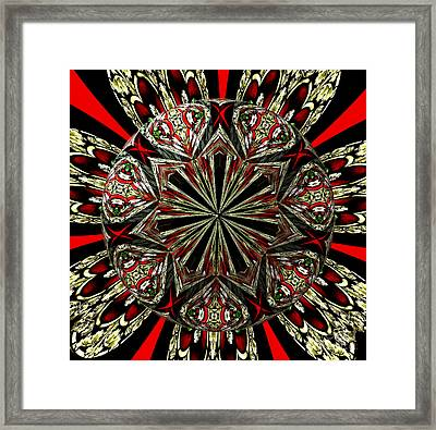 Royal Stained Glass Kaleidoscope Under Glass Framed Print by Rose Santuci-Sofranko