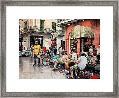 Royal Street Jazz Framed Print