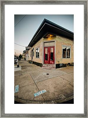 Royal Street Landerette In The Marigny Of New Orleans Framed Print by Ray Devlin