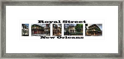 Royal Street New Orleans Framed Print