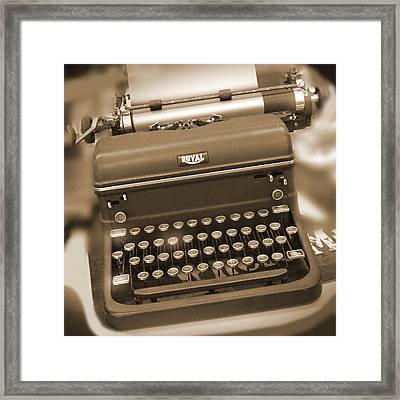 Royal Typewriter Framed Print by Mike McGlothlen