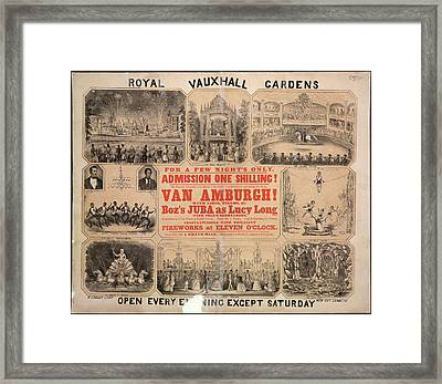 Royal Vauxhall Gardens Framed Print by British Library