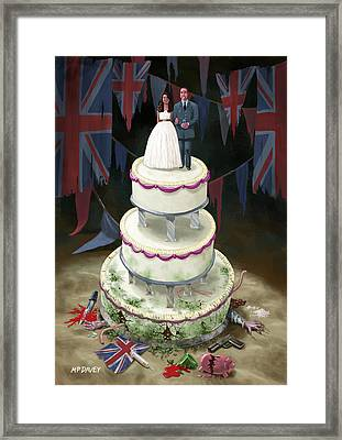 Royal Wedding 2011 Cake Framed Print by Martin Davey