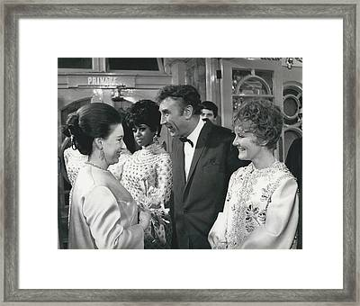 Royals Attend The Royal Variety Performance At The London Framed Print by Retro Images Archive