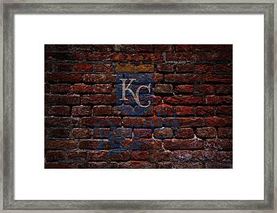 Royals Baseball Graffiti On Brick  Framed Print by Movie Poster Prints
