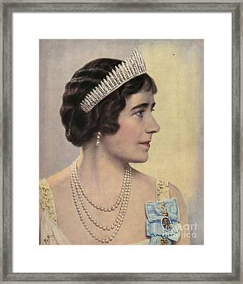 Royalty 1939 1930s Uk Queen Elizabeth Framed Print by The Advertising Archives