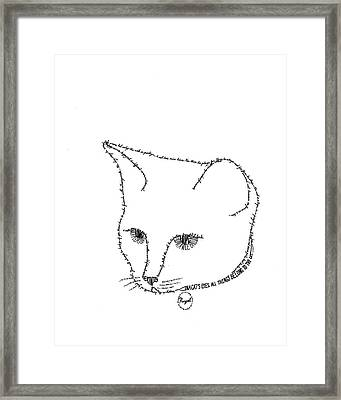 Royalty In A Word Is Cat Framed Print by Bethany Martin