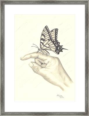 Framed Print featuring the drawing Royalty In Hand by Patricia Hiltz