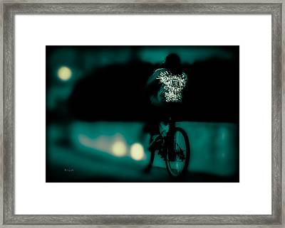 Royalty On A Bicycle  Framed Print by Bob Orsillo