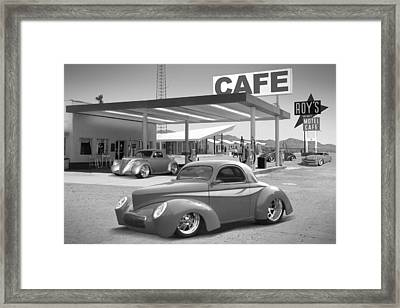 Roy's Gas Station 2bw Framed Print by Mike McGlothlen