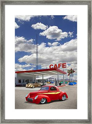Roy's Gas Station - Route 66 Framed Print by Mike McGlothlen