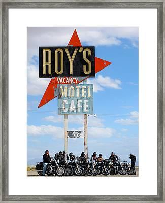 Roy's Motel Framed Print