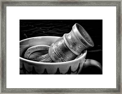 Roy's Shaving Mug I Framed Print by Jeff Burton