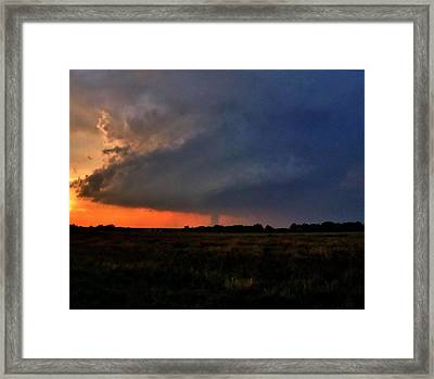 Framed Print featuring the photograph Rozel Tornado by Ed Sweeney