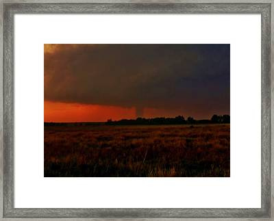 Framed Print featuring the photograph Rozel Tornado On The Horizon by Ed Sweeney