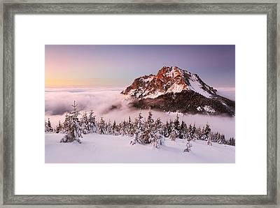 Rozsutec Peak Framed Print