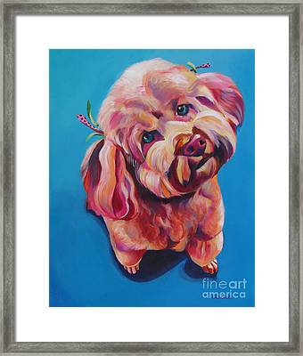 Rozzie In Pink Framed Print