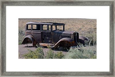 Framed Print featuring the photograph Rt 66 And Nowhere To Go by Debby Pueschel