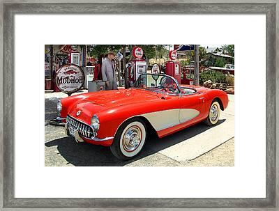 Rt. 66 Corvette Framed Print