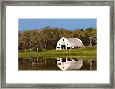 Rt 66 Hay Farm Oklahoma Framed Print
