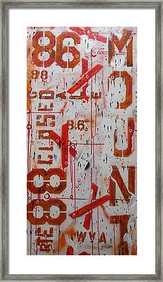 Rte 86/88 Closed Framed Print by Gh FiLben