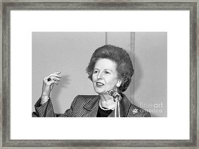 Rt.hon. Margaret Thatcher Framed Print