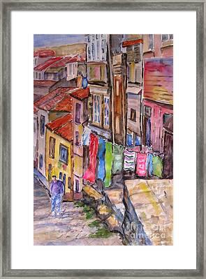 Rua Conticeira Brazil  Framed Print by Mohamed Hirji