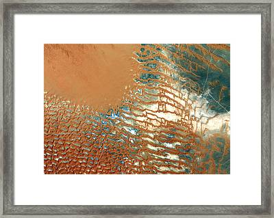 Rub Al Khali Desert Saudi Arabia Framed Print by Anonymous